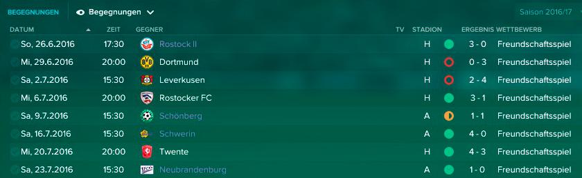 Rostock Testspiele