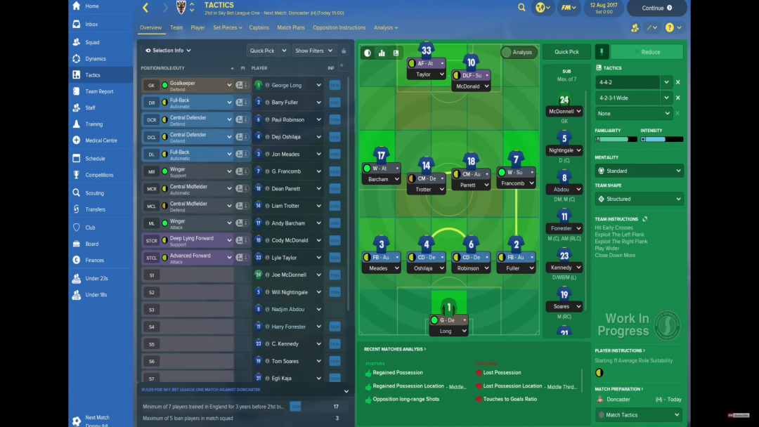 FM18 Taktik Screen