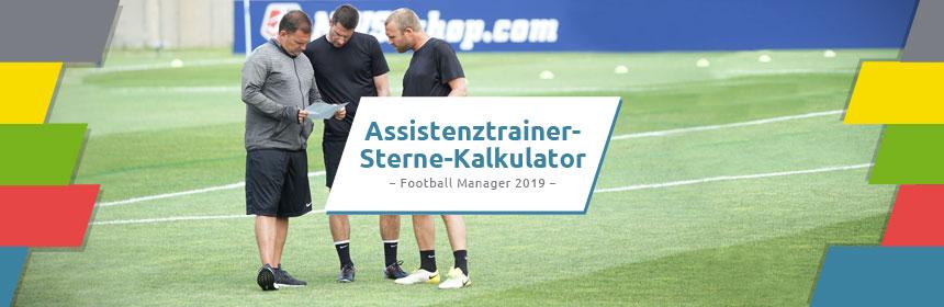 Football Manager Assistenztrainer Sterne-Kalkulator