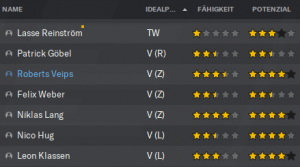 Sterne im Football Manager