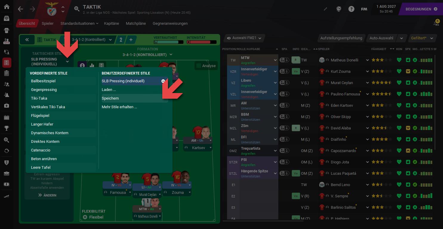 Football Manager Taktikstile